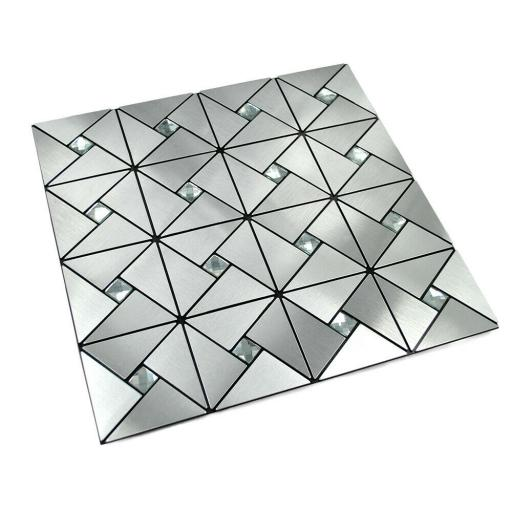 Self Adhesive Mosaic Aluminium Tile Diamond Kitchen Bathroom