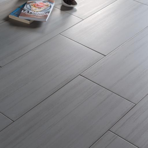 Laser Line Grigio Italian Porcelain Wall & Floor Tiles 120 x 60 cm