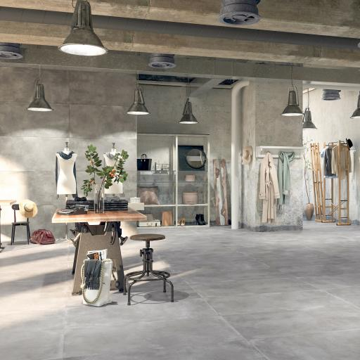 City Grigio Concrete Effect Porcelain Rectified Wall & Floor Tiles