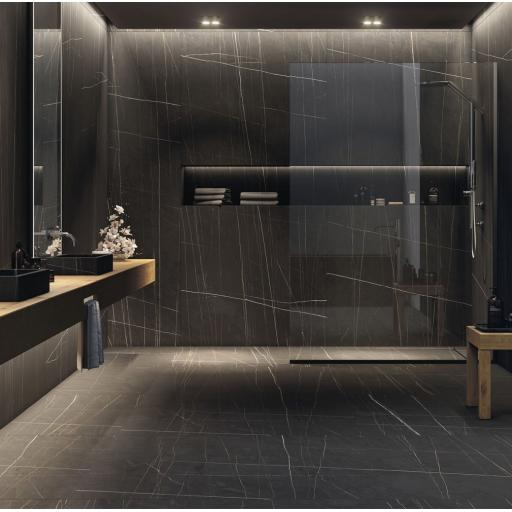 Sahara Noir Black Porcelain Rectified Wall & Floor Tiles