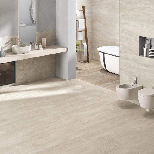 Signum Ivory Wood Effect Italian Porcelain Wall & Floor Tiles