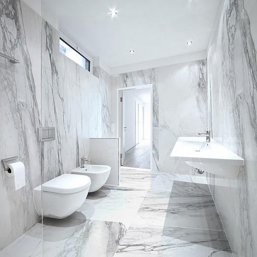 Bernini Marble Effect Porcelain Rectified Wall & Floor Tiles
