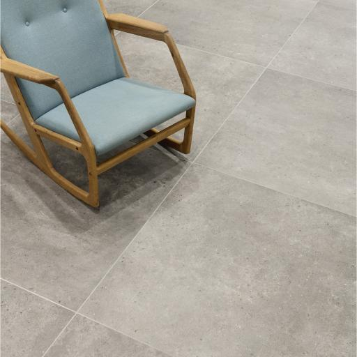 District Grey Limestone Effect Porcelain Rectified Wall & Floor Tiles