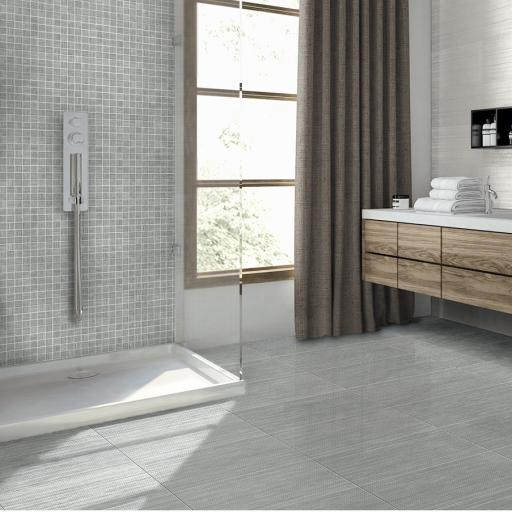 Setai Silver Italian Porcelain Wall & Floor Tiles 30.4 x 61 cm