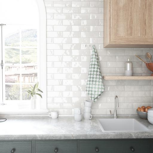 Nolita Blanco Brick Gloss Wall & Floor Tiles