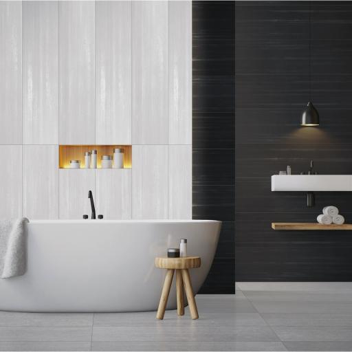 Laser Style Bianco Italian Porcelain Wall & Floor Tiles 30 x 60 cm
