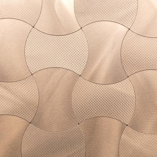 Self Adhesive Mosaic Aluminium Tile Brushed Bronze
