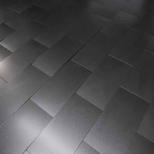Self Adhesive Mosaic Aluminium Tile Anthracite Brick