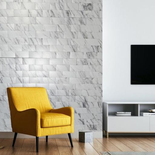 Self Adhesive Mosaic Aluminium Tile Marble Effect