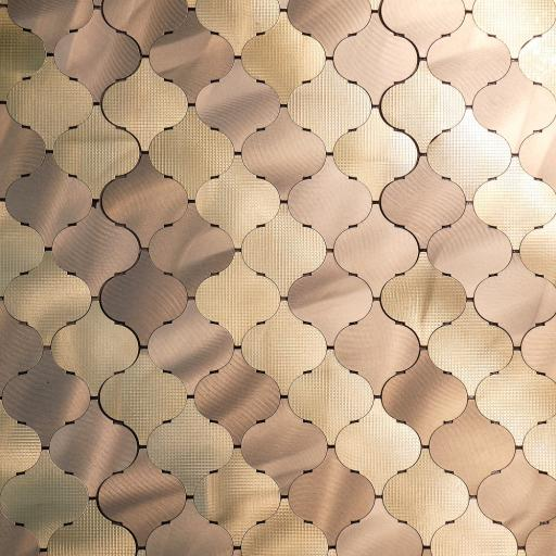 Self Adhesive Mosaic Aluminium Tile Arabasco Bronze