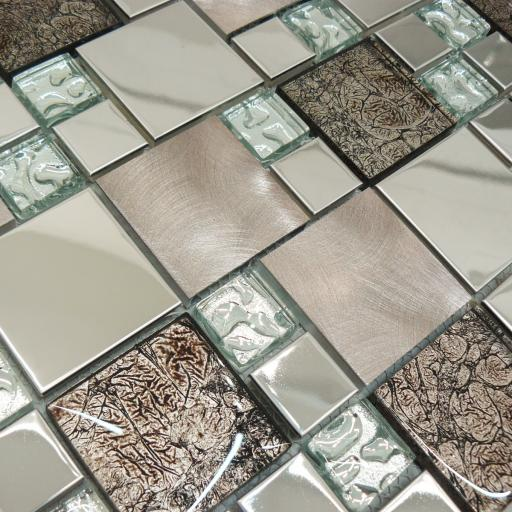 Mosaic Tiles Sheet Onyx Bronze 30 cm X 30 cm