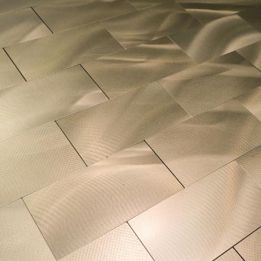 Self Adhesive Mosaic Aluminium Tile Bronze Brick