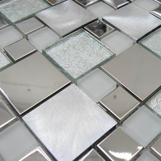 Mosaic Tiles Sheet Onyx White 30 cm X 30 cm
