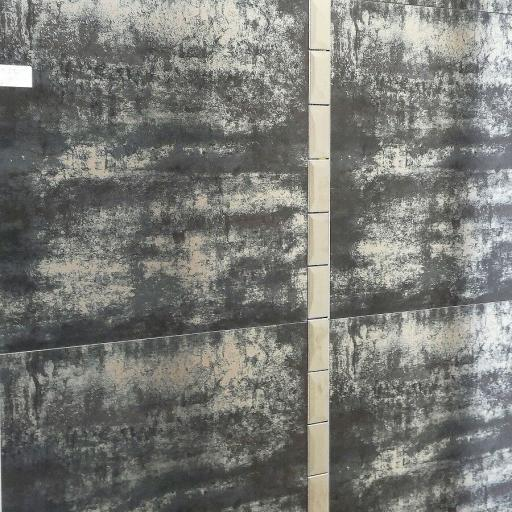 Fusion Black Semi Polished Metallic Porcelain Wall & Floor Tiles