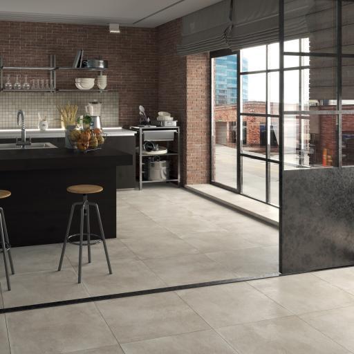 City Beige Concrete Effect Porcelain Rectified Wall & Floor Tiles