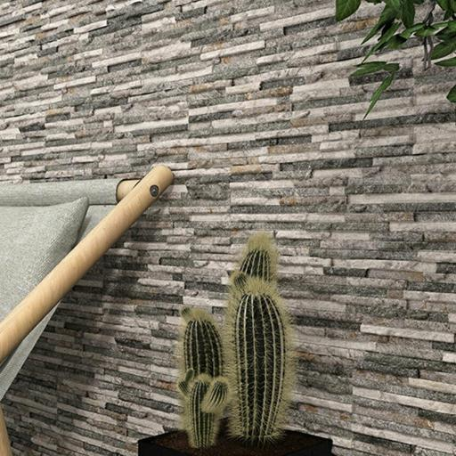 Rock Grey Split Face Matt Brick Wall & Floor Tiles