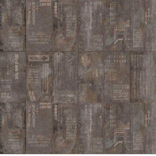 Metal Black Décor Italian Porcelain Wall & Floor Tiles