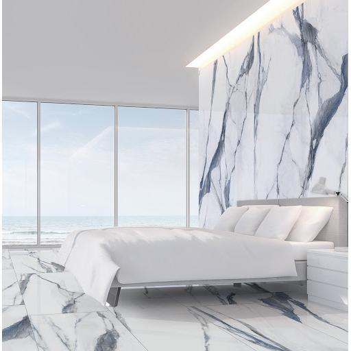Calacatta Oceanic Marble Effect Porcelain Rectified Wall & Floor Tiles