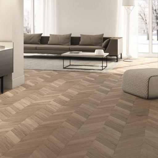 Greco Vainille Chevron Wood Effect Porcelain Wall & Floor Tiles