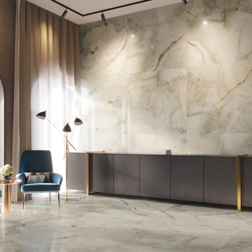 Eunoia Beige Polished Porcelain Wall & Floor Tiles 120 x 120cm