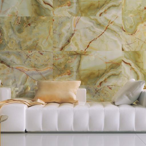 Eunoia Green Polished Porcelain Wall & Floor Tiles 120 x 120cm
