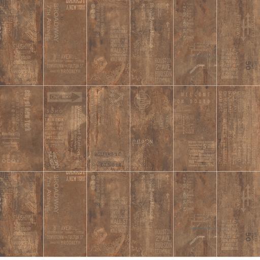 Metal Rust Décor Italian Porcelain Wall & Floor Tiles
