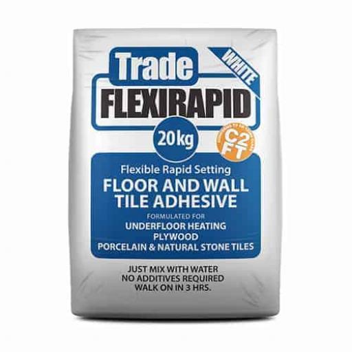 Tilemaster Trade Flexi Rapid White Tile Adhesive 20kg