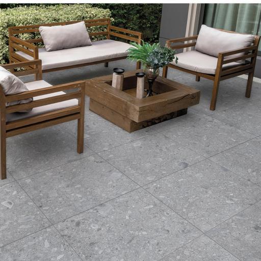 Outdoor 2cm Porcelain Tiles Ceppo Grey