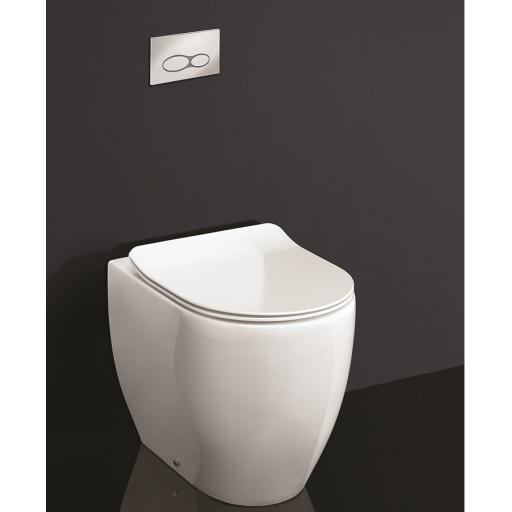 GII Gloss Back to Wall Rimless Toilet & Soft Close Seat