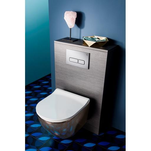 Svelte Platinum Back to Wall Toilet & Soft Close Seat