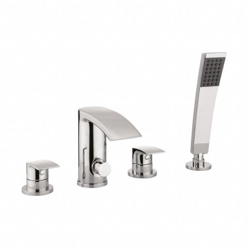 Crosswater Flow Bath Shower Mixer 4 Hole Set With Kit