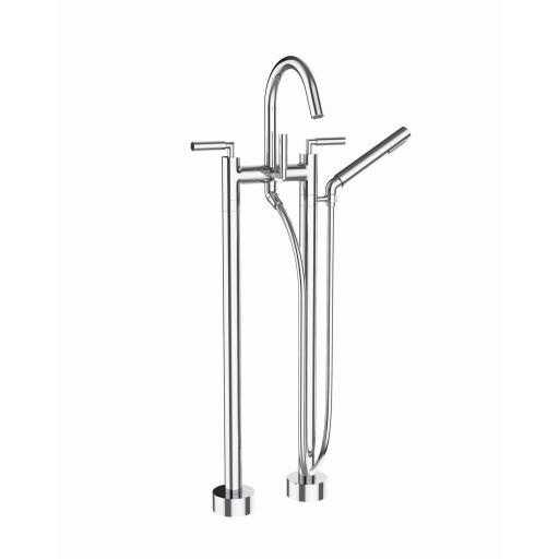 Saneux TEMPUS Floor Mounted Bath/Shower Mixer