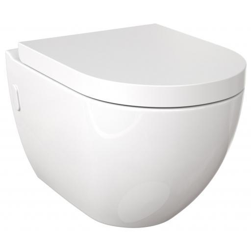 PRA wall mounted WC & standard soft close seat