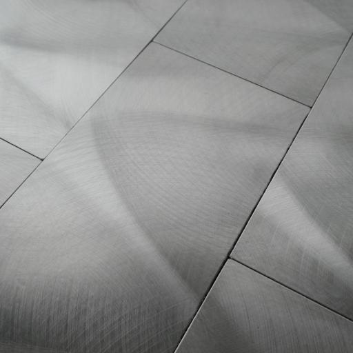Self Adhesive Mosaic Aluminium Tile Silver