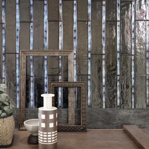 Orion Silver Brick Porcelain Wall & Floor Tiles